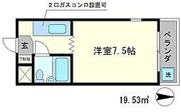 第2京都メゾンベルジュ西京極[2階]の間取り