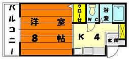 福岡県福岡市東区松香台2丁目の賃貸マンションの間取り
