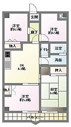 サンライト南浦和2番館[5階]の間取り