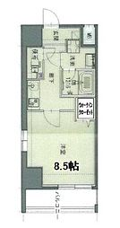 都営新宿線 篠崎駅 徒歩3分の賃貸マンション 7階1Kの間取り