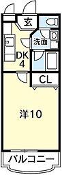 サンテ・ヴィラ住吉弐番館[405号室]の間取り