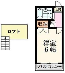 神奈川県大和市柳橋5の賃貸アパートの間取り