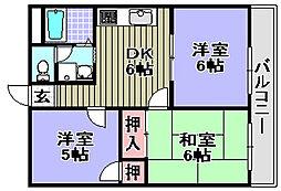 きらめき壱番館・弐番館[1-303号室]の間取り