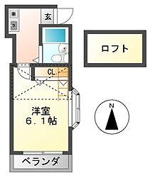 ヴィレッジハウス[2階]の間取り