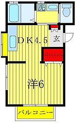 コアハイム[2階]の間取り