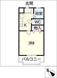 リトルアイランド303パートII[2階]の間取り