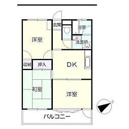 板橋ビル(マンション)[3階]の間取り