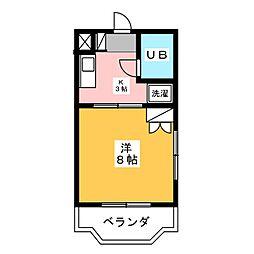 静岡県磐田市二之宮東の賃貸マンションの間取り