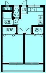 神奈川県川崎市多摩区中野島1の賃貸マンションの間取り