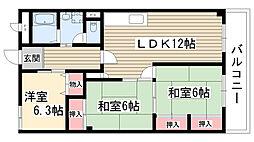 第一マンダイマンション[2階]の間取り