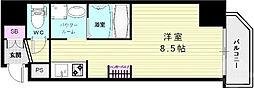 SDグランツ神戸駅前 3階ワンルームの間取り