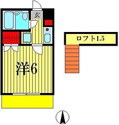 ルモンド松戸[1階]の間取り
