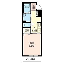 Prime Stage II South[105号室]の間取り