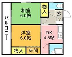 栄香荘[7号室]の間取り