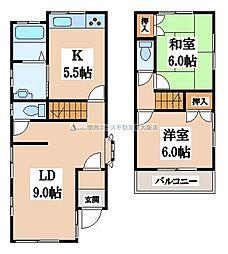 [一戸建] 大阪府大東市野崎3丁目 の賃貸【/】の間取り