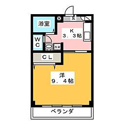 グリーンコート平田[1階]の間取り