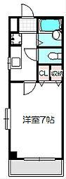 京阪本線 守口市駅 徒歩9分の賃貸マンション 4階1Kの間取り