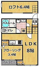 SOLANA〜ソラナ〜 姪浜[1階]の間取り