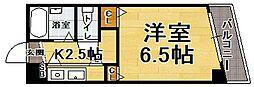 エスポワールマンション天神南[2階]の間取り