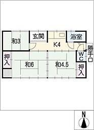 [一戸建] 三重県津市乙部 の賃貸【/】の間取り
