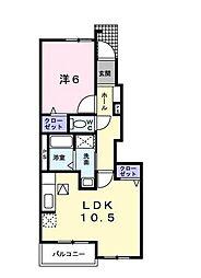 ミルフローラ1番館[1階]の間取り