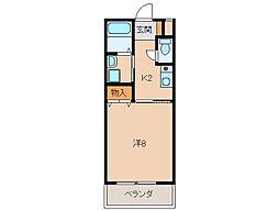 シティガーデン水栖[2階]の間取り