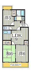 第15パールメゾン鏑木[3階]の間取り