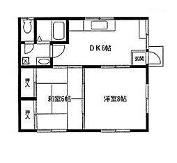 篠川アパート[2階]の間取り