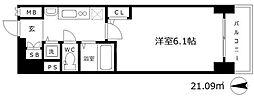 プレサンス梅田北デイズ[3階]の間取り
