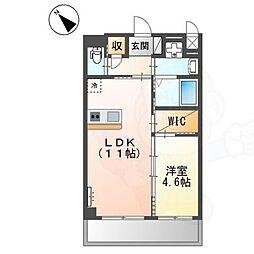 (仮称)堺市堺区向陵中町3丁 新築賃貸マンション 2階1LDKの間取り