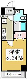 ユリカロゼAZEST川口[5階]の間取り