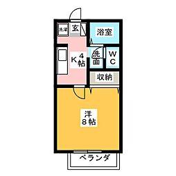 静岡県静岡市駿河区国吉田6丁目の賃貸アパートの間取り