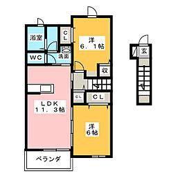 コッティ[2階]の間取り