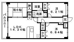 Cantina小笹(カンティーナ小笹)[5階]の間取り