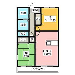 メゾンFIGARO[3階]の間取り