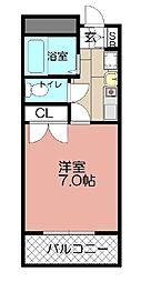 サン舞鶴[502号室]の間取り