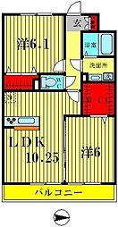 ファンファーレ新宿[3階]の間取り
