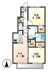カーサベルデ5[1階]の間取り