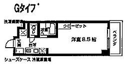 KICS湘南[215号室]の間取り