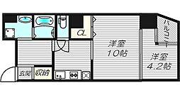 G−style TENMABASHI[7階]の間取り