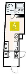 JR山手線 大塚駅 徒歩5分の賃貸マンション 1階ワンルームの間取り