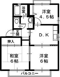 豊岡市弥栄町 ルピナスC[1階]の間取り
