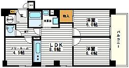 ユニハイム松屋町[7階]の間取り