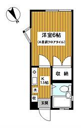 ドリームハイツ三ッ沢I[201号室]の間取り