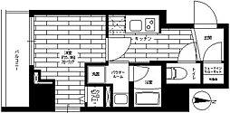 ステージファースト横浜阪東橋 3階1Kの間取り