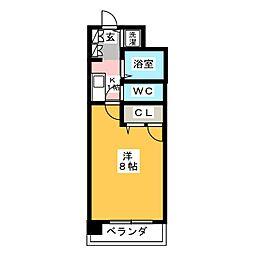 エリアント赤坂[1階]の間取り