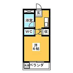 サンシャイン隼人[3階]の間取り