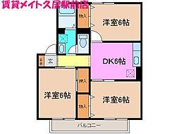 ドリームコート[2階]の間取り