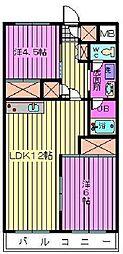 渋谷コート3号館[3階]の間取り