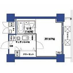 HF梅田レジデンスTOWER 3階1Kの間取り